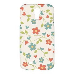 Abstract Vintage Flower Floral Pattern Samsung Galaxy S4 I9500/i9505 Hardshell Case
