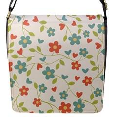 Abstract Vintage Flower Floral Pattern Flap Messenger Bag (s)