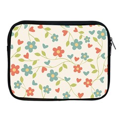 Abstract Vintage Flower Floral Pattern Apple Ipad 2/3/4 Zipper Cases