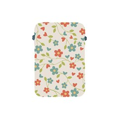 Abstract Vintage Flower Floral Pattern Apple Ipad Mini Protective Soft Cases