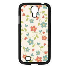 Abstract Vintage Flower Floral Pattern Samsung Galaxy S4 I9500/ I9505 Case (black)