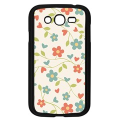 Abstract Vintage Flower Floral Pattern Samsung Galaxy Grand Duos I9082 Case (black)