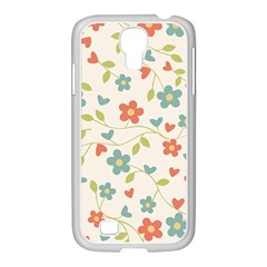 Abstract Vintage Flower Floral Pattern Samsung Galaxy S4 I9500/ I9505 Case (white)