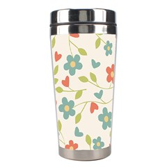 Abstract Vintage Flower Floral Pattern Stainless Steel Travel Tumblers