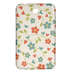 Abstract Vintage Flower Floral Pattern Samsung Galaxy Tab 3 (7 ) P3200 Hardshell Case