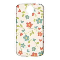 Abstract Vintage Flower Floral Pattern Samsung Galaxy S4 Classic Hardshell Case (pc+silicone)