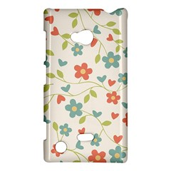 Abstract Vintage Flower Floral Pattern Nokia Lumia 720