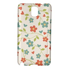 Abstract Vintage Flower Floral Pattern Samsung Galaxy Note 3 N9005 Hardshell Case