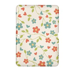Abstract Vintage Flower Floral Pattern Samsung Galaxy Tab 2 (10 1 ) P5100 Hardshell Case