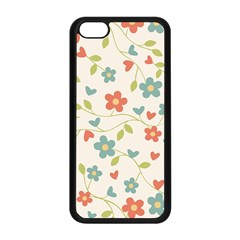 Abstract Vintage Flower Floral Pattern Apple Iphone 5c Seamless Case (black)