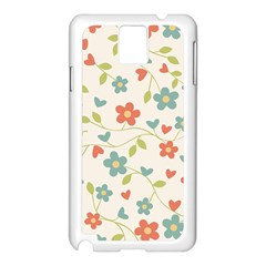 Abstract Vintage Flower Floral Pattern Samsung Galaxy Note 3 N9005 Case (white)