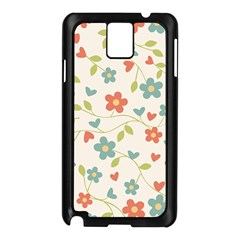 Abstract Vintage Flower Floral Pattern Samsung Galaxy Note 3 N9005 Case (black)