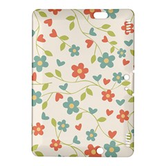 Abstract Vintage Flower Floral Pattern Kindle Fire Hdx 8 9  Hardshell Case