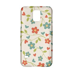 Abstract Vintage Flower Floral Pattern Samsung Galaxy S5 Hardshell Case