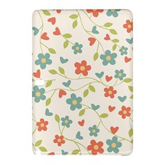Abstract Vintage Flower Floral Pattern Samsung Galaxy Tab Pro 12 2 Hardshell Case