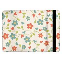 Abstract Vintage Flower Floral Pattern Samsung Galaxy Tab Pro 12 2  Flip Case
