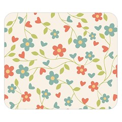 Abstract Vintage Flower Floral Pattern Double Sided Flano Blanket (small)