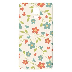 Abstract Vintage Flower Floral Pattern Galaxy Note 4 Back Case