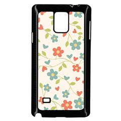 Abstract Vintage Flower Floral Pattern Samsung Galaxy Note 4 Case (black)