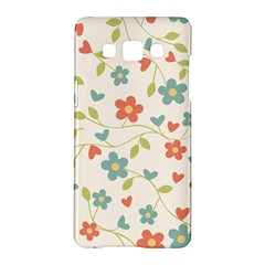 Abstract Vintage Flower Floral Pattern Samsung Galaxy A5 Hardshell Case