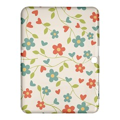 Abstract Vintage Flower Floral Pattern Samsung Galaxy Tab 4 (10 1 ) Hardshell Case