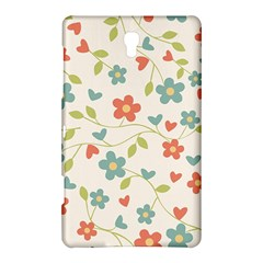 Abstract Vintage Flower Floral Pattern Samsung Galaxy Tab S (8 4 ) Hardshell Case