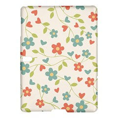 Abstract Vintage Flower Floral Pattern Samsung Galaxy Tab S (10.5 ) Hardshell Case
