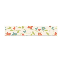 Abstract Vintage Flower Floral Pattern Flano Scarf (Mini)