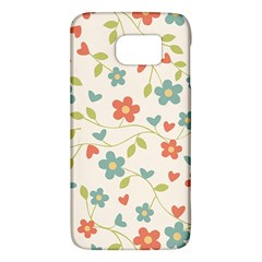 Abstract Vintage Flower Floral Pattern Galaxy S6