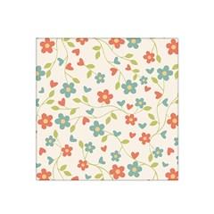 Abstract Vintage Flower Floral Pattern Satin Bandana Scarf