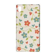 Abstract Vintage Flower Floral Pattern Sony Xperia Z3+