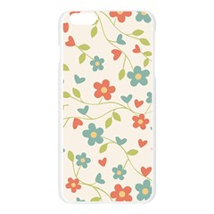 Abstract Vintage Flower Floral Pattern Apple Seamless iPhone 6 Plus/6S Plus Case (Transparent)