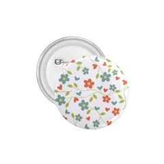 Abstract Vintage Flower Floral Pattern 1.75  Buttons