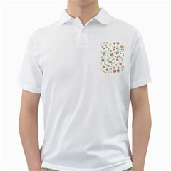 Abstract Vintage Flower Floral Pattern Golf Shirts