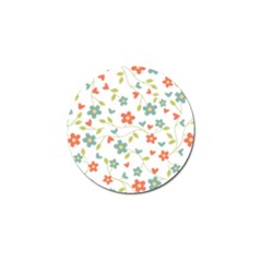 Abstract Vintage Flower Floral Pattern Golf Ball Marker (4 Pack)