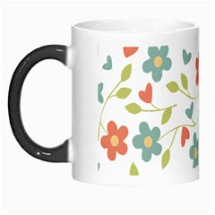 Abstract Vintage Flower Floral Pattern Morph Mugs
