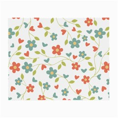 Abstract Vintage Flower Floral Pattern Small Glasses Cloth
