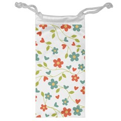Abstract Vintage Flower Floral Pattern Jewelry Bag