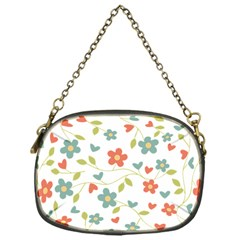 Abstract Vintage Flower Floral Pattern Chain Purses (one Side)