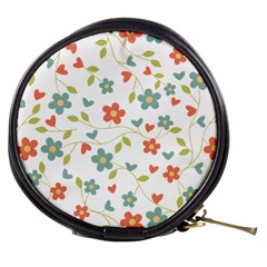 Abstract Vintage Flower Floral Pattern Mini Makeup Bags