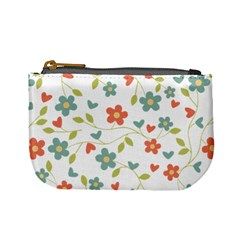 Abstract Vintage Flower Floral Pattern Mini Coin Purses