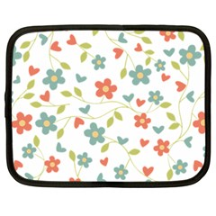 Abstract Vintage Flower Floral Pattern Netbook Case (xxl)