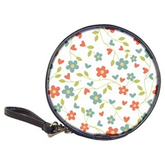 Abstract Vintage Flower Floral Pattern Classic 20 Cd Wallets