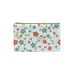 Abstract Vintage Flower Floral Pattern Cosmetic Bag (small)