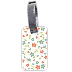 Abstract Vintage Flower Floral Pattern Luggage Tags (one Side)