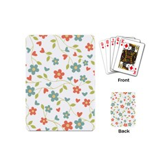 Abstract Vintage Flower Floral Pattern Playing Cards (mini)
