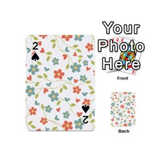 Abstract Vintage Flower Floral Pattern Playing Cards 54 (Mini)