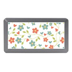 Abstract Vintage Flower Floral Pattern Memory Card Reader (mini)
