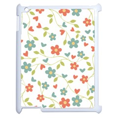 Abstract Vintage Flower Floral Pattern Apple Ipad 2 Case (white)