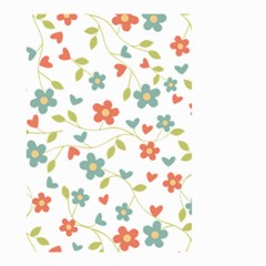Abstract Vintage Flower Floral Pattern Small Garden Flag (two Sides)